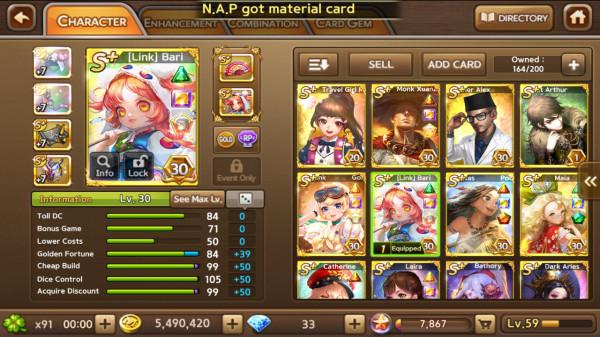 Link Bari + Monk XuanZang + Gold Jenny + Maia