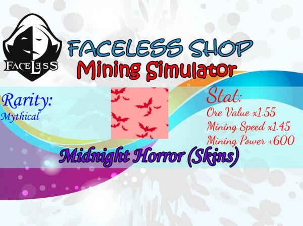 Midnight Horror Skin Mining Simulator