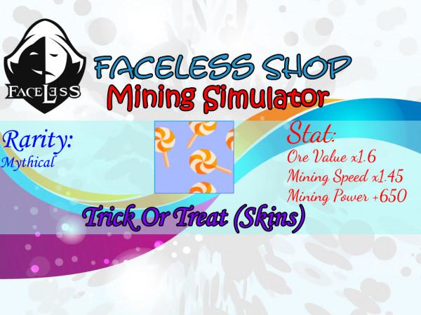 Trick Or Treat Skin Mining Simulator