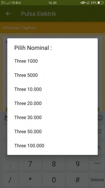 PULSA TRI/THREE (5.000) (MKIOS)
