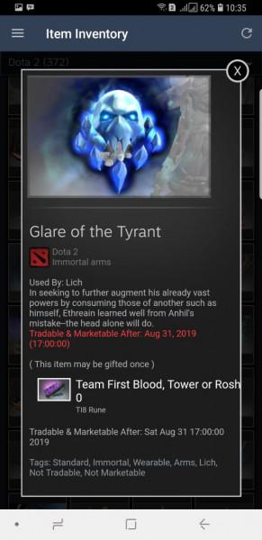 Glare of the Tyrant (Immortal TI8 Lich)
