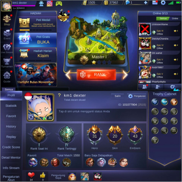 Skin GG, Hero Oke, All unbind aman 100%