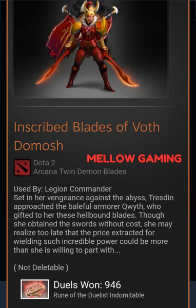 Inscribed Blades of Voth Domosh (Arcana Legion Commander)