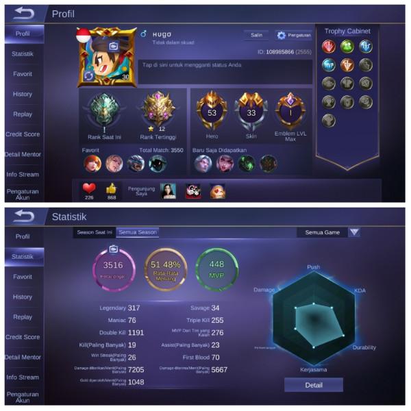 Epic Irithel,Starlight3|Hero53|Skin33|Emblem Max1