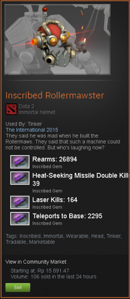 Inscribed Rollermawster (Immortal Tinker)