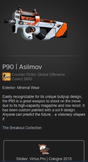 P90 | Asiimov (Covert SMG)