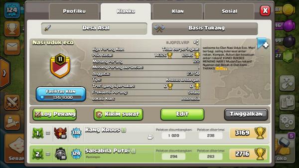 Clan lavel 11 saat nya kamu jadi pemimpin
