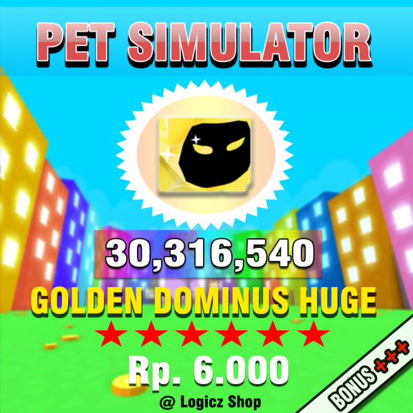 Golden Dominus Huge Super Duper Rare Pet Simulator