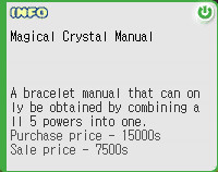 magical crystal manual (buat bracelet)