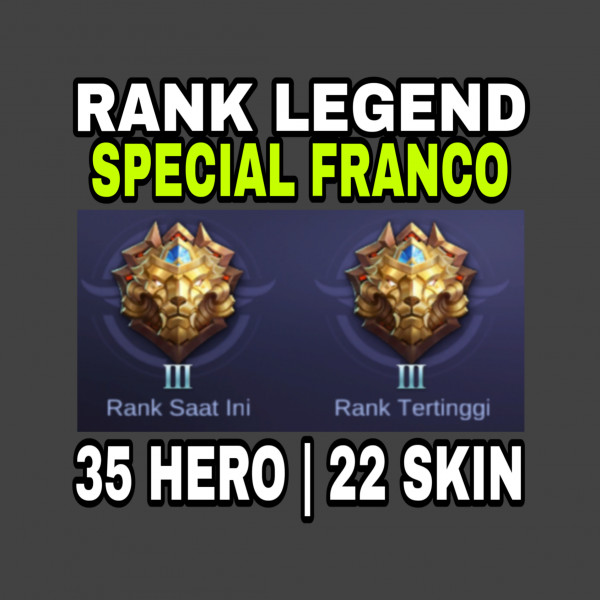 Akun, Hero Epic, Sultan
