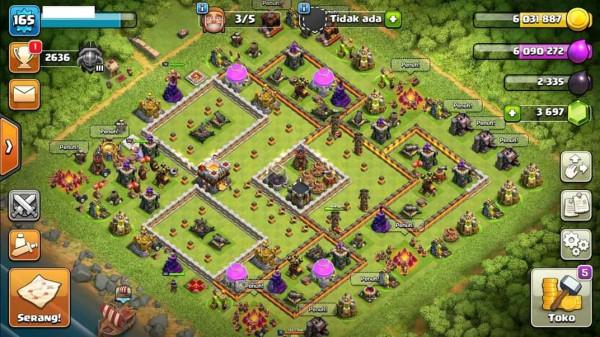 Town Hall 11 Hero 36-50-20 Low Deff Cocok Buat WAR
