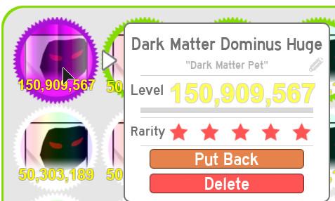 Dark Matter Dominus Huge