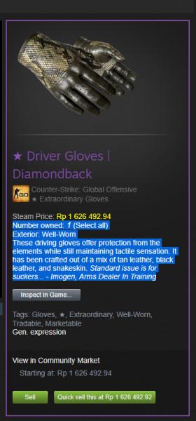 Driver Gloves | Diamondback WW