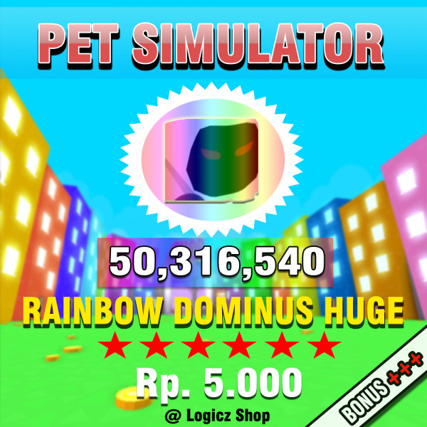 Rainbow Dominus Huge Super Rare Pet Simulator