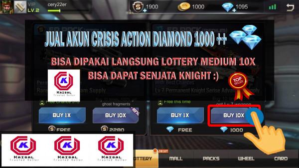 AKUN CRISIS ACTION 1000 DIAMOND SERVER ACAK