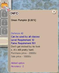 GREEN PUMPKIN +0