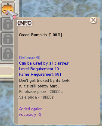 GREEN PUMPKIN +0