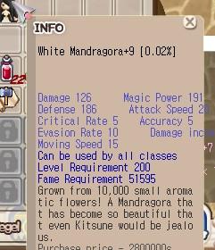 Stage 6 White Mandragora