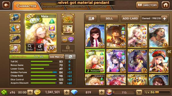 Maia + Monk XuanZang + Gold La Vie dkk S+ 7