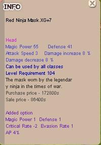 Red Ninja Mask XG