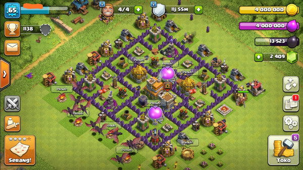 Town Hall 7 All Max. Siap Upgrade. GG.