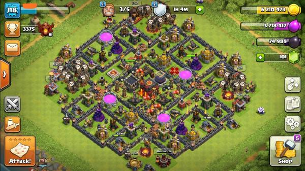 Town Hall 10 GG. Murah Meriah. Siap War.