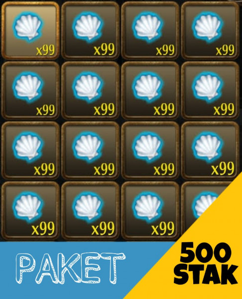 Paket 500Stak Summer Shell