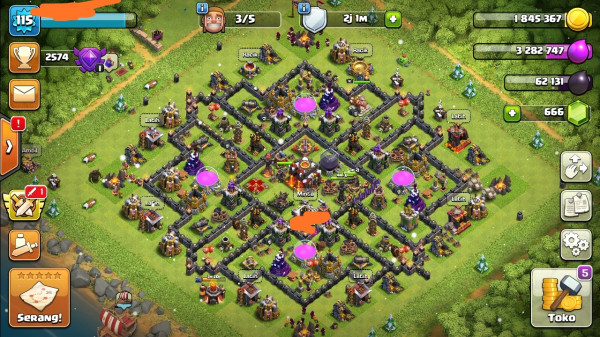 Clash of clans townhall 10 Max Murah