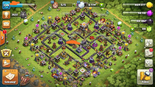 Clash of clans townhall 11 murah mantap
