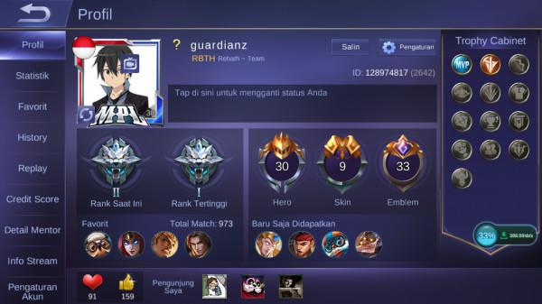 RANK GRANDMASTER | SKIN 9 | HERO 30 | ALL UNBIND