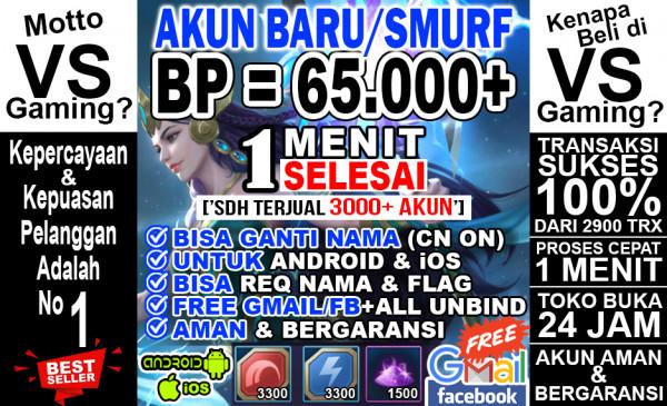 Akun Sultan BP 65.000++, Hero Epic, Emblem Jozz..!