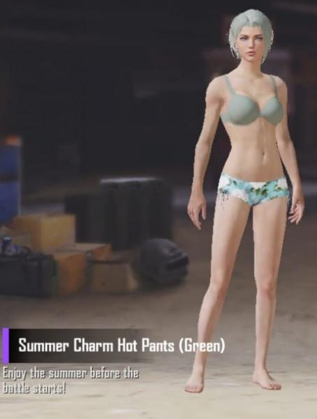 Summer Charm Hot Pants (Green)