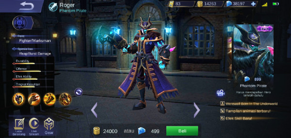 Phantom Pirate (Epic Skin Roger)