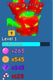 1 Festive Serpent | Bubble Gum Sim