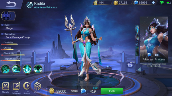 Atlantean Princess (Skin Kadita)