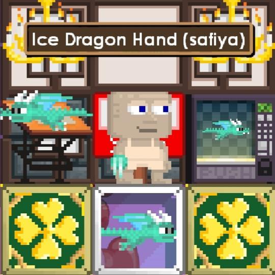 "Ice Dragon Hand + ""Random item"""