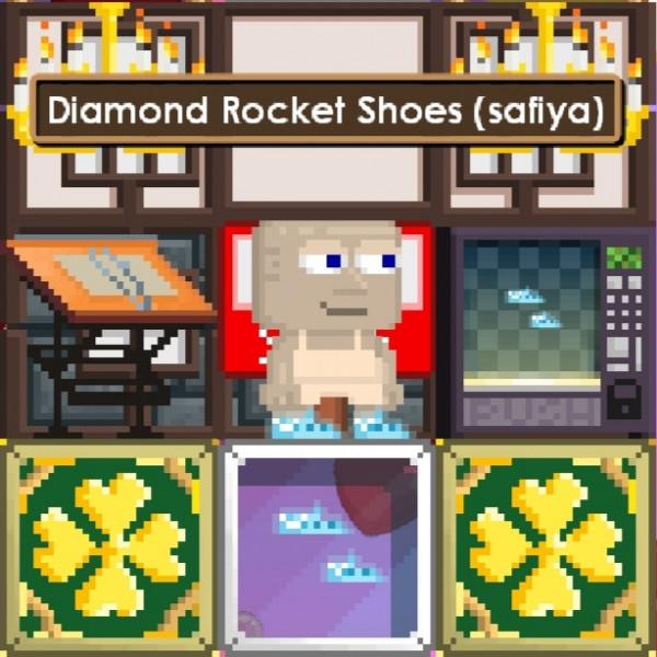 "Diamond Rocket Shoes + ""Random item"""