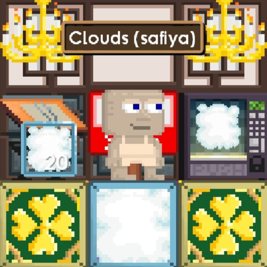 "20 Clouds + ""Random Item"""