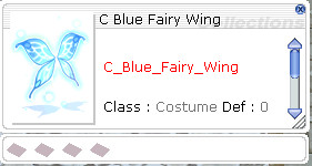 Costume Blue Fairy Wing