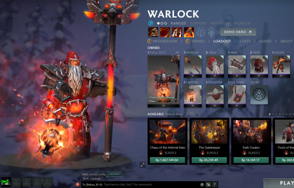 Chaos of the Infernal Maw (Warlock Set)