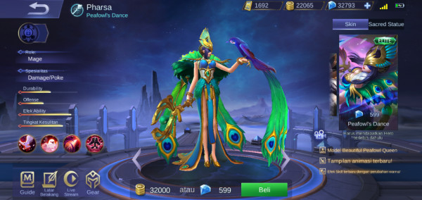 Peafowl's Dance (Elite Skin Pharsa)