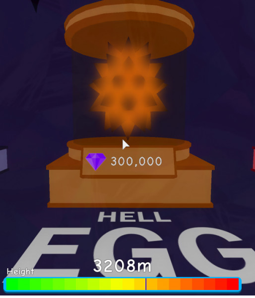 1x Open 1 Hell Egg 300K ( Bubble Gum Simulator )