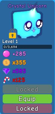 Crystal Unicorn ( Bubble Gum Simulator )