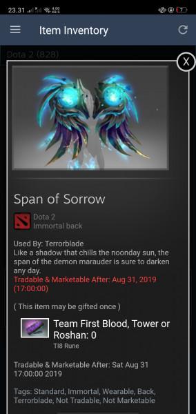 Span of Sorrow (Immortal TI8 Terrorblade)