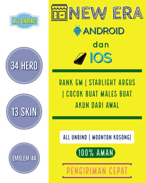Akun Mobile Legends Ranked Murah Meriah