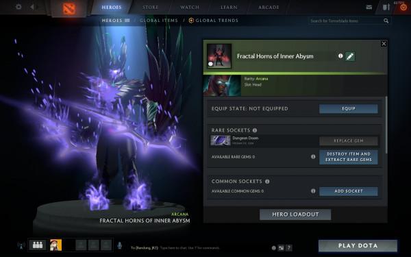 Arcana Terrorblade Ungu Prismatic Dungeon Doom