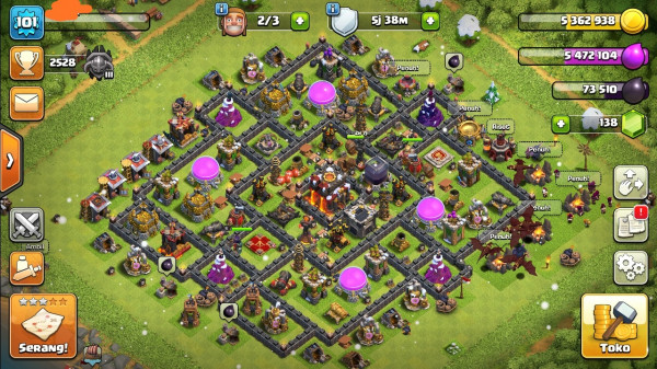 Clash of clans townhall 10 semimax murah