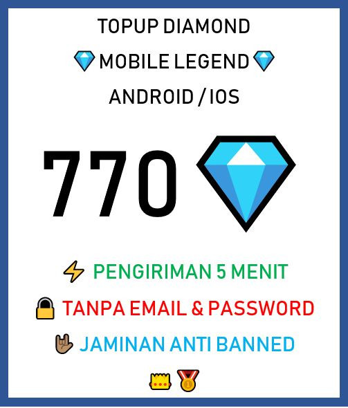 Top Up 770 Diamonds
