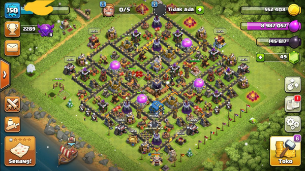 clash of clans th 12 murah  dan mode malam GG