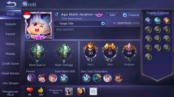 Akun Sultan 4 Epic Limit Ft 3 Special 2SL